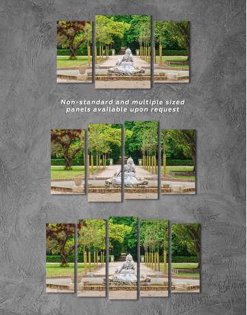 Buddha Fountain in Green Park Canvas Wall Art - image 3