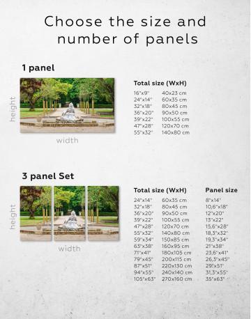 Buddha Fountain in Green Park Canvas Wall Art - image 7