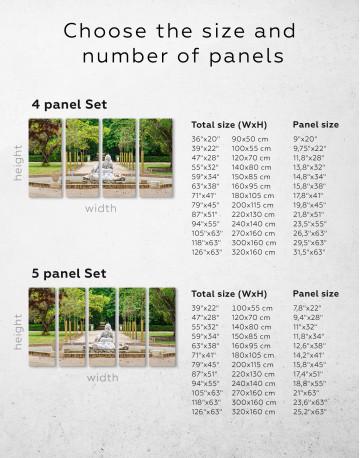 Buddha Fountain in Green Park Canvas Wall Art - image 6