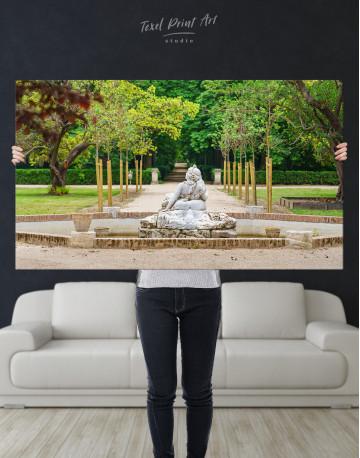 Buddha Fountain in Green Park Canvas Wall Art - image 9