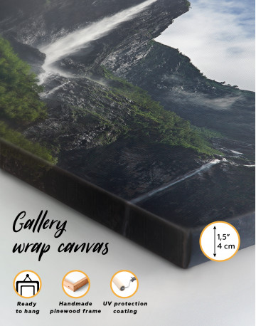 Vettisfossen Waterfall Norway Canvas Wall Art - image 2