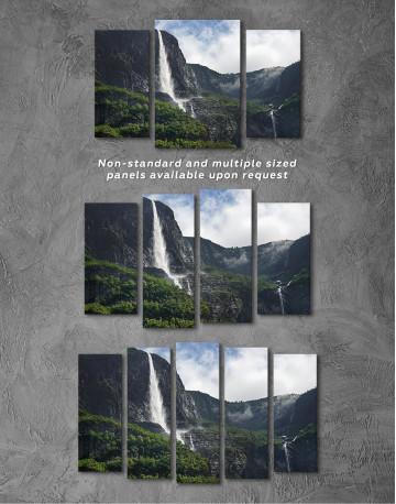 Vettisfossen Waterfall Norway Canvas Wall Art - image 5