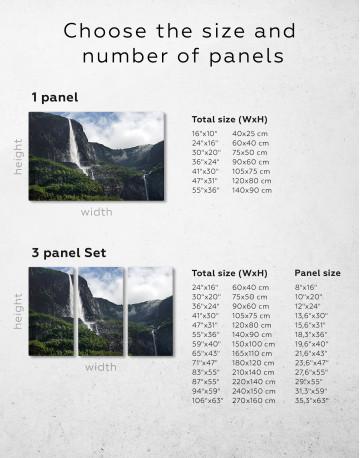 Vettisfossen Waterfall Norway Canvas Wall Art - image 9