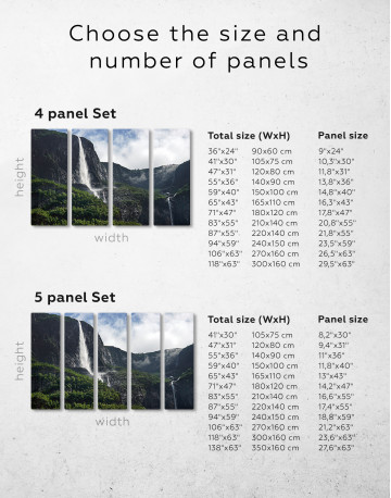 Vettisfossen Waterfall Norway Canvas Wall Art - image 8