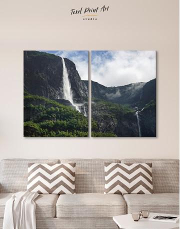 Vettisfossen Waterfall Norway Canvas Wall Art - image 10