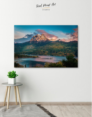 Huge Mountain Covered in Vegetation Canvas Wall Art - image 2