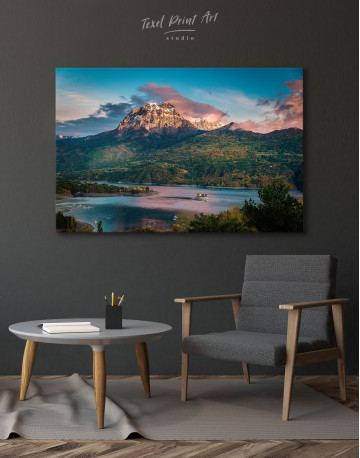 Huge Mountain Covered in Vegetation Canvas Wall Art - image 4