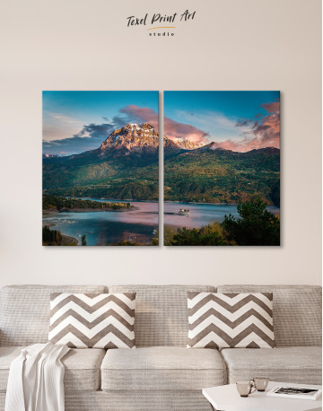 Huge Mountain Covered in Vegetation Canvas Wall Art - image 10