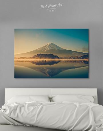 Sunrise at Lake Kawaguchiko Canvas Wall Art