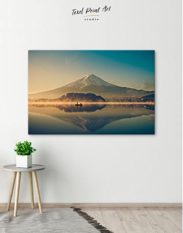 Sunrise at Lake Kawaguchiko Canvas Wall Art - image 6