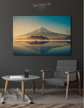 Sunrise at Lake Kawaguchiko Canvas Wall Art - image 4