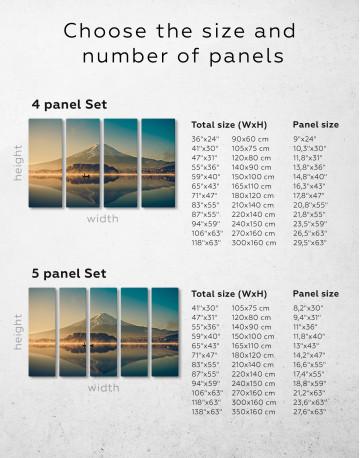 Sunrise at Lake Kawaguchiko Canvas Wall Art - image 2