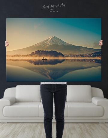 Sunrise at Lake Kawaguchiko Canvas Wall Art - image 9