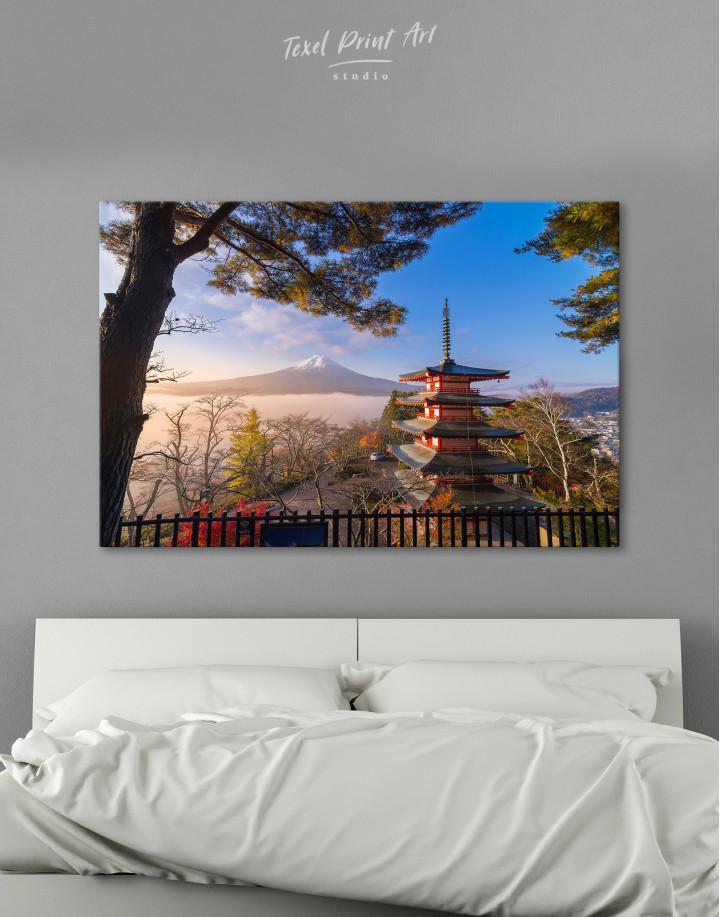 Fuji Mountain in Autumn Canvas Wall Art