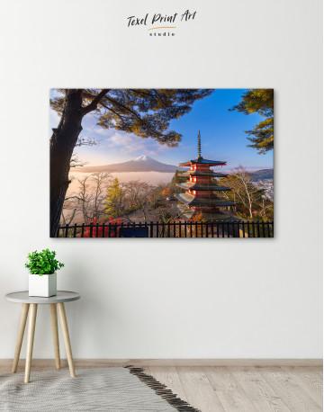 Fuji Mountain in Autumn Canvas Wall Art - image 4