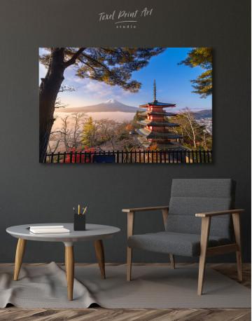 Fuji Mountain in Autumn Canvas Wall Art - image 5