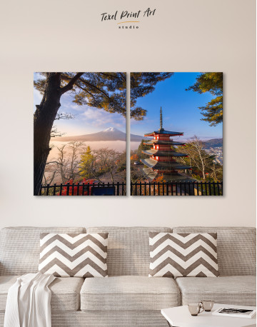 Fuji Mountain in Autumn Canvas Wall Art - image 10