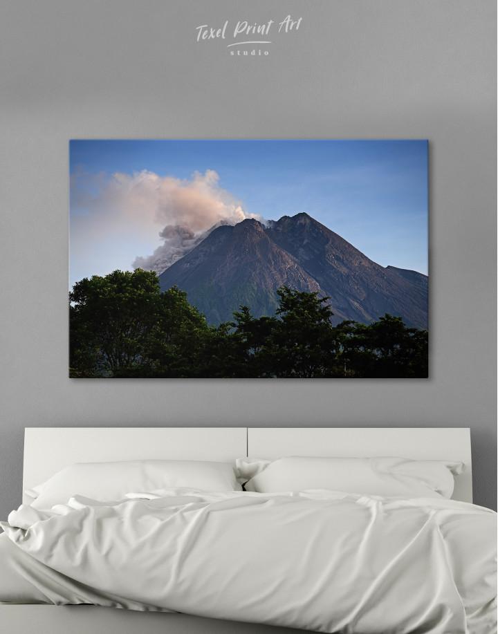 Yogyakarta Volcano Erupting Canvas Wall Art