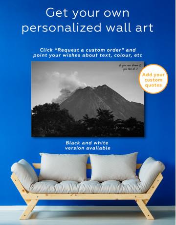 Yogyakarta Volcano Erupting Canvas Wall Art - image 7