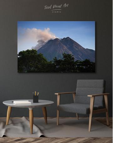 Yogyakarta Volcano Erupting Canvas Wall Art - image 6