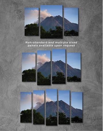 Yogyakarta Volcano Erupting Canvas Wall Art - image 4