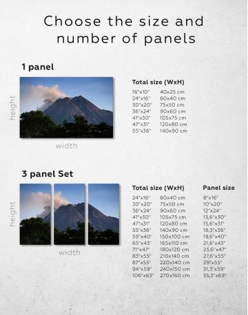 Yogyakarta Volcano Erupting Canvas Wall Art - image 1