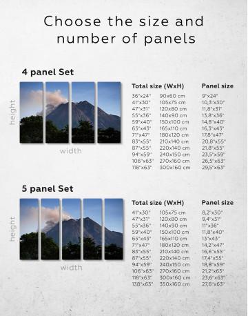 Yogyakarta Volcano Erupting Canvas Wall Art - image 2