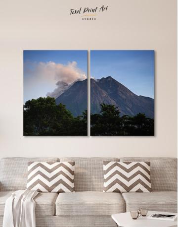 Yogyakarta Volcano Erupting Canvas Wall Art - image 10