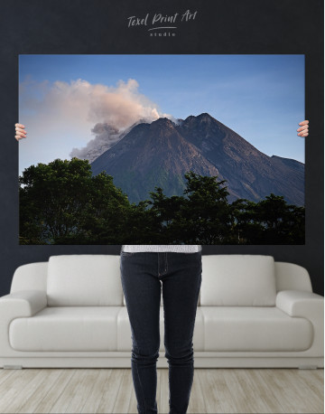 Yogyakarta Volcano Erupting Canvas Wall Art - image 9