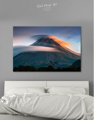 Mount Merapi Yogyakarta Volcano Indonesia Canvas Wall Art