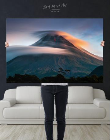 Mount Merapi Yogyakarta Volcano Indonesia Canvas Wall Art - image 9