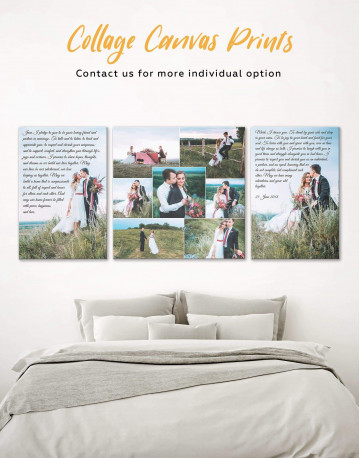 Wedding Vows Photo Collage Canvas Wall Art - image 4