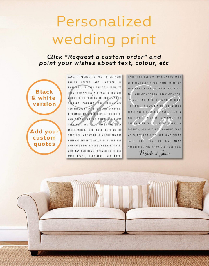 Wedding Vows Canvas Wall Art - Image 2