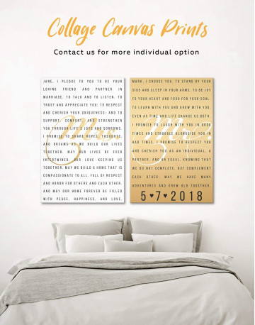 Wedding Vows Canvas Wall Art - image 4