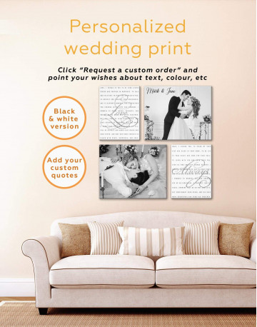 Wedding Gift Collage Canvas Wall Art - image 2