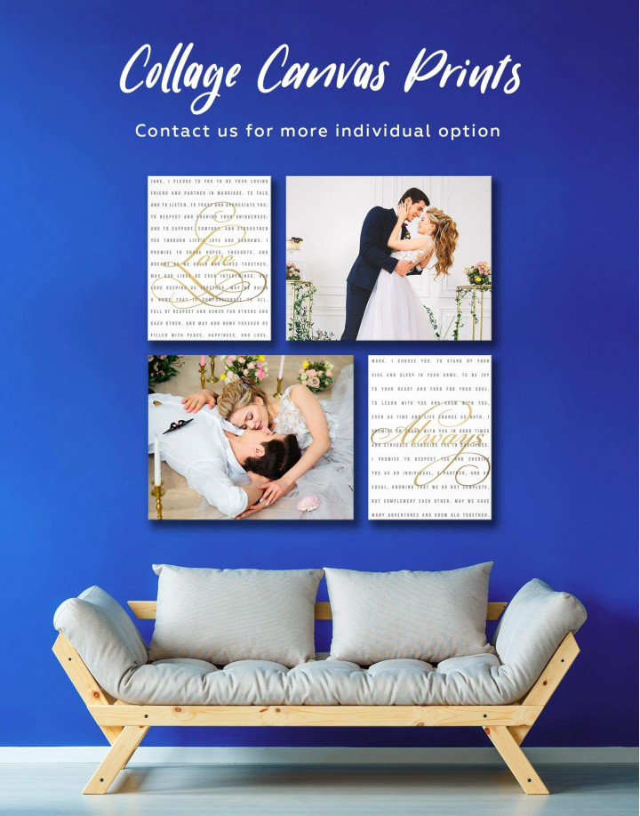 Wedding Gift Collage Canvas Wall Art - Image 0