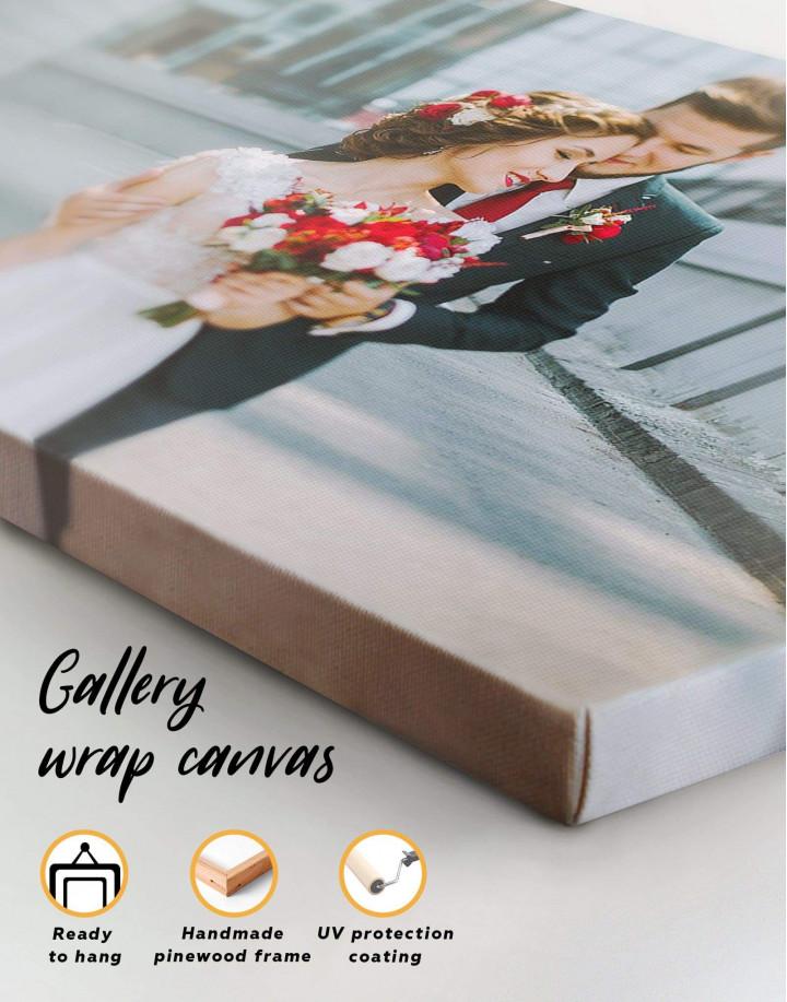 Wedding Photo Collage    Print Canvas Wall Art - Image 2