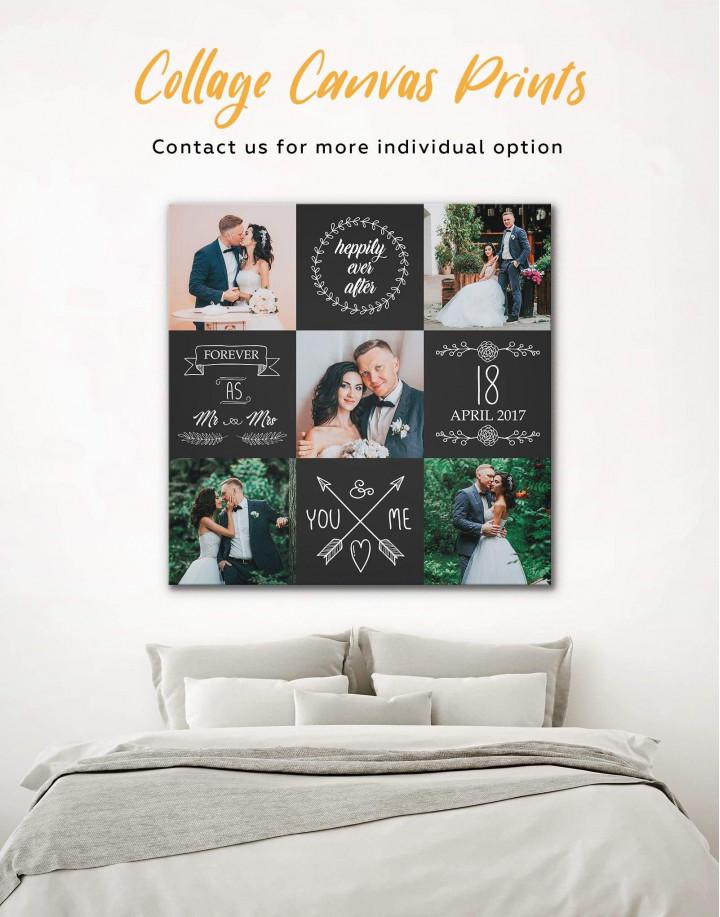 Wedding Photo Collage    Print Canvas Wall Art - Image 0