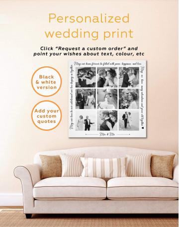 Wedding Photo Collage Wall Art Canvas Print Canvas Wall Art - image 3