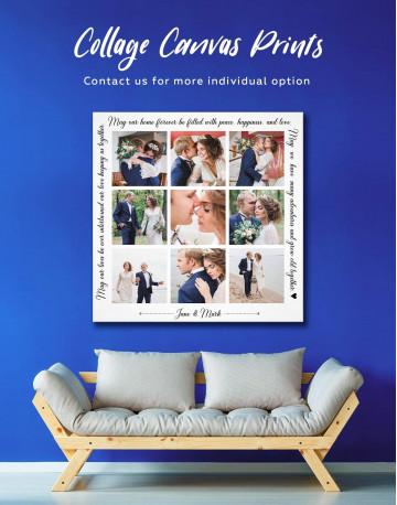 Wedding Photo Collage Wall Art Canvas Print Canvas Wall Art - image 1