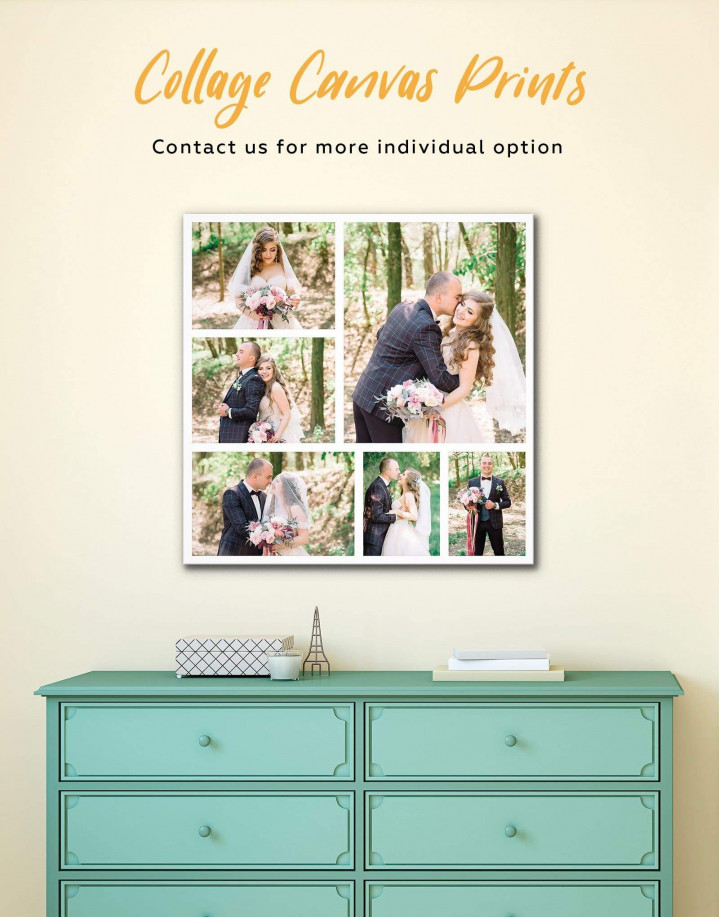 Personalized Photo Collage    Print Canvas Wall Art - Image 1