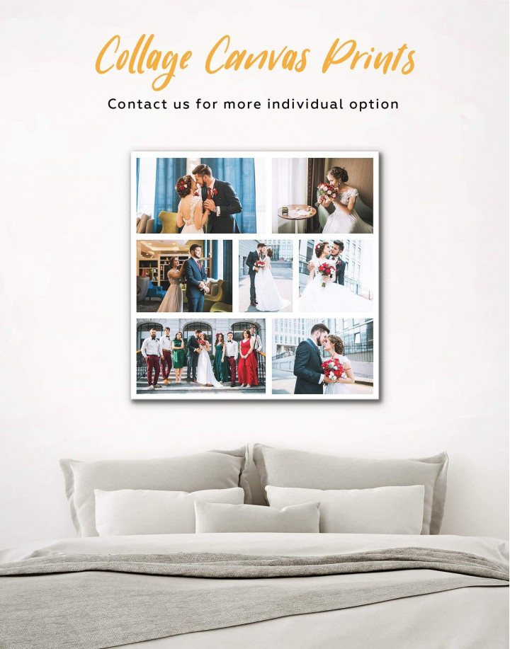 Personalized Photo Collage    Print Canvas Wall Art - Image 0